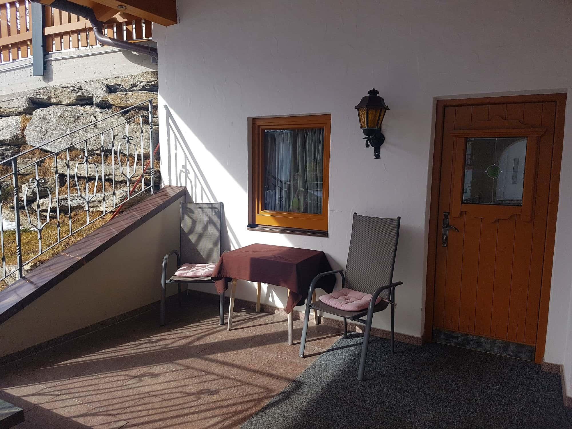 Terrasse Einzelzimmer